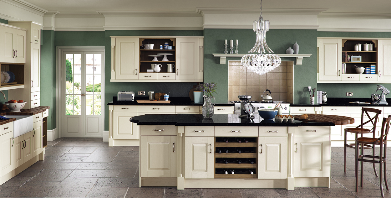 Paintedandstained tierney kitchens for Country style kitchen b q